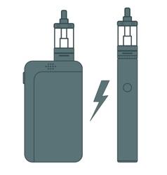 E-cigarette flat vector