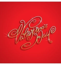 Hand drawn Valentines Day Lettering vector image