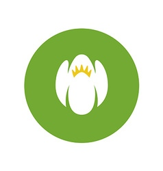 Jasmine flower color logo White green and yellow vector image