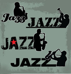 Jazz Music headline vector image vector image