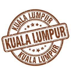Kuala lumpur stamp vector
