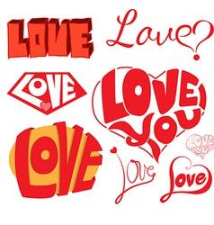 Love hearts sketchy notebook doodles design eleme vector