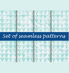 Marbling set seamless pattern bright background vector
