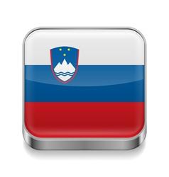 Metal icon of slovenia vector