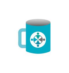 mockup of corporate ceramic mug template for vector image