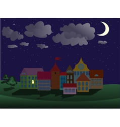 Night town vector
