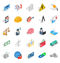 offer of deal icons set isometric style vector image vector image