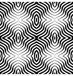 Op art black white seamless geometric pattern vector