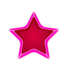 Pink cartoon star vector