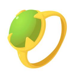 Precious ring icon cartoon style vector