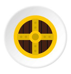 Round protective shield icon circle vector