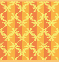 seamless abstract stars vintage orange pattern vector image