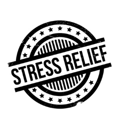 Stress Relief rubber stamp vector image vector image