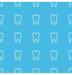 Tooth straight pattern vector