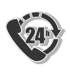 twentyfour hours service vector image