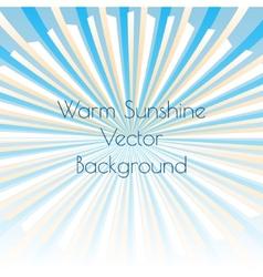 Warm sunshine rays vector