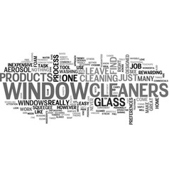 Window cleaners text word cloud concept vector