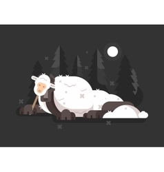 Wolf in sheeps clothing vector