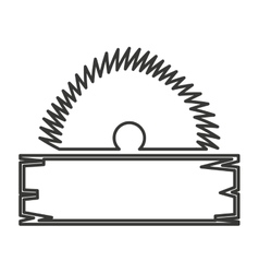 Electric saw tool icon vector