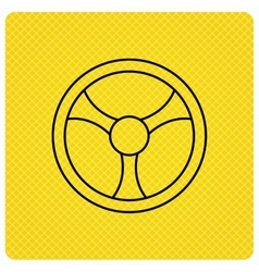 Steering wheel icon car drive control sign vector