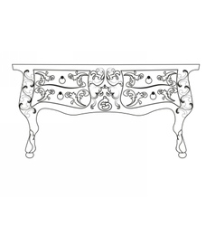 Baroque table furniture vector
