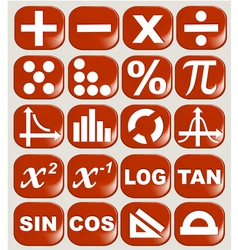 Math related symbols vector
