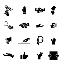 Hands icons and symbol design template vector