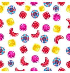Seamless background with colorful candies on a vector