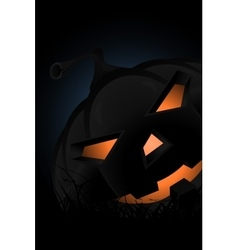 Halloween Party Background with Pampkin Lantern in vector image