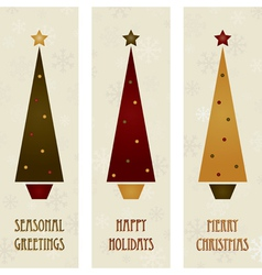 christmas tree banners vector image