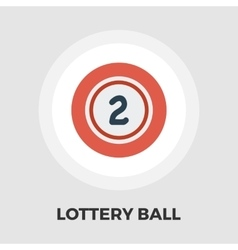 Lottery ball flat icon vector