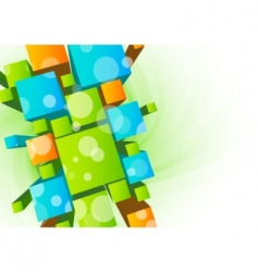 abstract background with 3d cubes vector image vector image