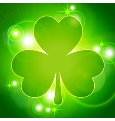 Abstract background with clover vector image vector image