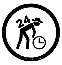Around the clock work rounded grainy icon vector