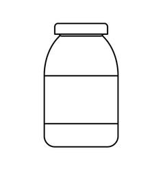 bottle in blank vector image vector image