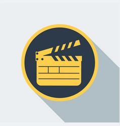 cinema clipboard icon vector image vector image