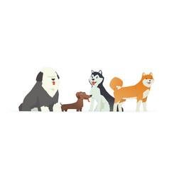 Cute dogs - modern cartoon characters vector