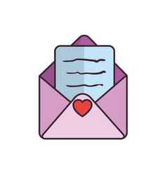 Cute love envelope vector