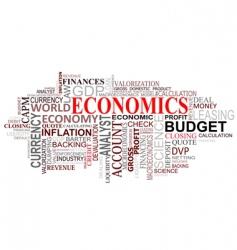 economics tags cloud vector image