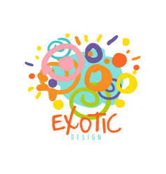 exotic logo design template tour operator vector image vector image