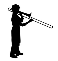 female playing trombone vector image