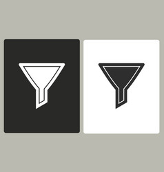 funnel - icon vector image vector image
