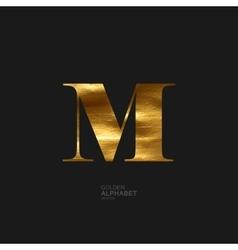 Golden letter m vector