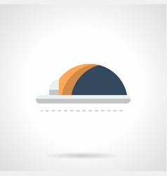 hard hat flat color icon vector image