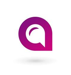 Letter a speech bubble logo icon design template vector