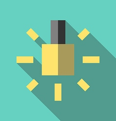 Lightbulb icon flat style vector