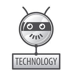 Logo round robot head vector