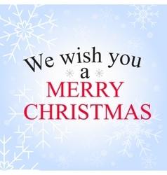 merry christmas greetin vector image