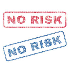 No risk textile stamps vector
