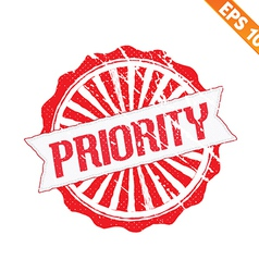 Rubber stamp high priority - - EPS10 vector image